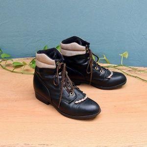 Vintage Laredo Performair Kiltie Ankle Boots Sz 7